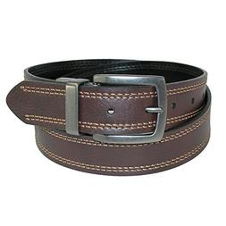 Dickies Mens 35mm Reversible Stitched Cut Edge Leather Belt