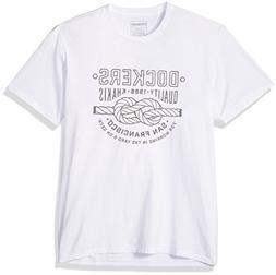 Dockers Men's Crewneck Graphic Short Sleeve T-Shirt, Light W
