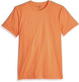 Dockers Men's Crewneck Graphic Short Sleeve T-Shirt, Papaya,