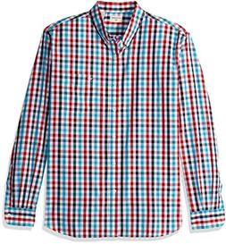 Dockers Men's No Wrinkle Long Sleeve Button-Front Shirt, Rio