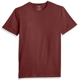 Dockers Men's Short Sleeve Cotton Solid Jersey Tee,Oxblood R