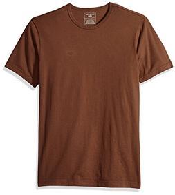 Dockers Men's Short Sleeve Cotton Solid Jersey Tee,Sierra Br