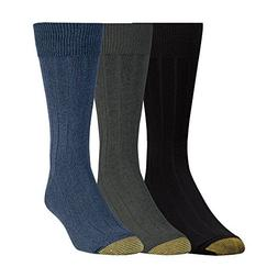 Gold Toe Men/'s Classic Cotton Argyle 3-Pack Sock Chambray//Oatmeal Heather//Den...