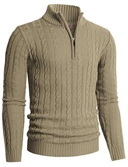 H2H Mens Knitted Slim Fit Pullover Sweater Shawl Collar with