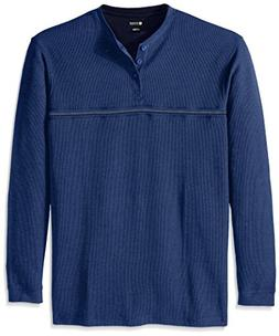 Haggar Men's Big-Tall Long Sleeve 2 In 1 Flat Back Rib Knit