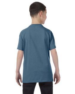 Hanes Youth 6.1 oz. Beefy-T, Denim Blue, XL