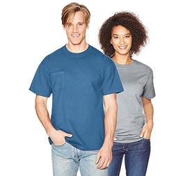 Hanes Beefy-T Adult Pocket T-Shirt_Denim Blue_L
