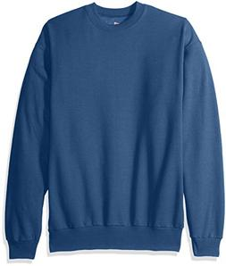 Hanes Men's EcoSmart Fleece Sweatshirt, Denim Blue, X Large