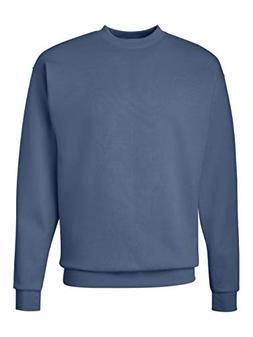 Hanes Men's EcoSmart Fleece Sweatshirt, Denim Blue, X Large