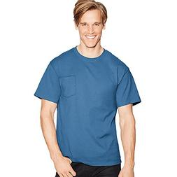 Hanes TAGLESS Pocket T-Shirt_Denim Blue_M