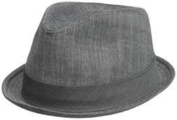 Henschel Men's Cotton Denim Fedora, Charcoal, X-Large