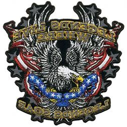 Hot Leathers, LEGENDS SOAR PATRIOTIC EAGLE, Iron-On / Saw-On