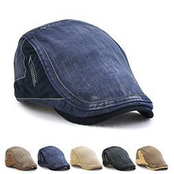 67141c978d2 JAMONT Men s Flat Cap Hat Ivy Gatsby Newsboy Caps Top Level