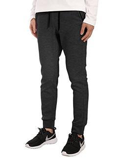 JD Apparel Mens Fleece Jogger Pants Elastic Active Basic Urb