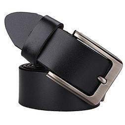 JingHao A9 Belts for Men Genuine Leather Belt for Dress & Je