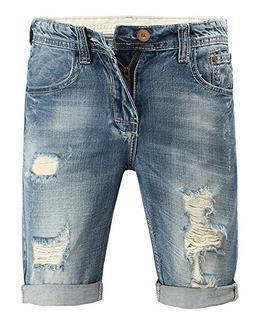Kedera Men's Ripped Denim Shorts Distressed Jeans Light Wash