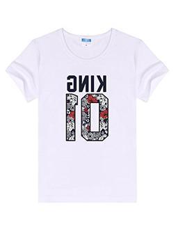 Kizaen Men's Letter Print T-Shirt Humor Funny Tee Shirt King