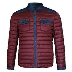 Lee Cooper Mens Denim Patch Jacket Down Coat Top Cotton Zip