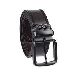 Levi's Men's Wide Reversible Casual Jeans Belt,Black/Brown,3