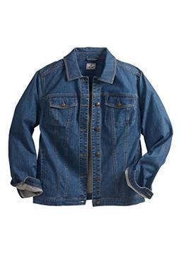 Liberty Blues Men's Big & Tall Denim Jacket, Blue Wash Tall-