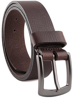 """Men/'s Casual Full Grain Classic Leather Dress Belt For Jeans,1.5/"""" Wide USA"""
