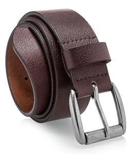Men's Casual Jean Belt Soft Top Full Grain Leather Roller Bu