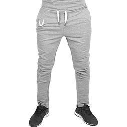 Mens Pants ! Charberry Leg Zipper Sports Pants Casual Elasti