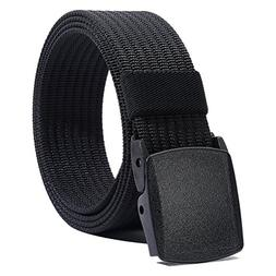 Nylon Belt Non Metal Adjustable Mens Breatheable Nylon Military Hiking Web Belt