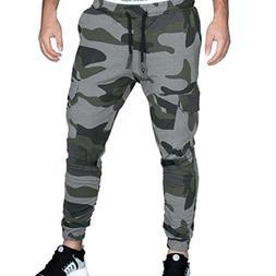 OWMEOT Match Men's Athletic-Fit Cargo Pant - Multi Pocket Lo
