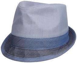 Original Penguin Men's Color-Blocked Chambray Porkpie Hat, I