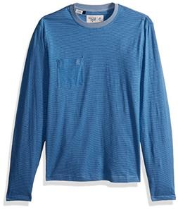 Original Penguin Men's Long Sleeve Striped Feeder Tee, Faded