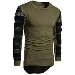 Realdo Men's Pullover Sweatshirt Tops, Long Sleeve Breathabl