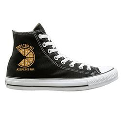 Shenigon Here For The Pizza Canvas Shoes High Top Casual Bla