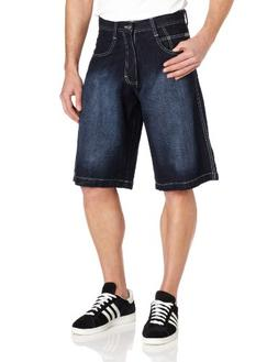 Southpole Men's Big-Tall 4180 Sand Washed Denim Short In Rel