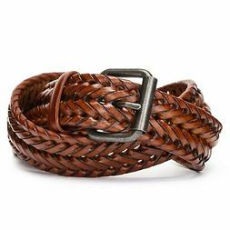Tanpie Fashion Men's Braided Belt Leather Strap for Jeans Br