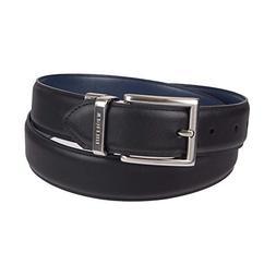 Tommy Hilfiger Men's Dress Reversible Belt, Black/Navy, 34
