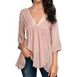 UONQD Woman blouse basic shirt chiffon pink burgundy women's