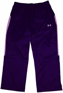 Under Armour Mens Warm-Up Pants, XXL, Purple