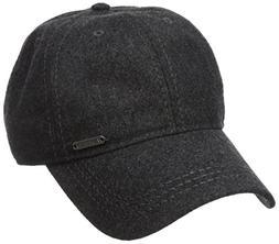 Van Heusen Men's Wool Baseball Cap, Adjustable, Charcoal Hea