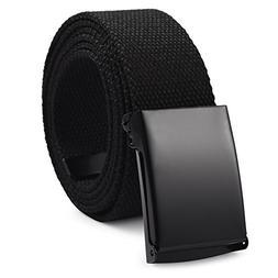 Vbiger Canvas Web Belt Military-Style Adjustable Waist Web B