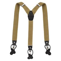 Vbiger Heavy Duty Suspenders Adjustable Braces Elastic Y Sha