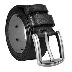 Vbiger Men Leather Belt Business Casual Pin Buckle Belt Clas