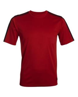 adidas A72 Mens ClimaLite 3-Stripes T-Shirt - University Red