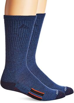 adidas Men's Climalite X Ii 2-Pack Crew Socks, Denim Blue/Co