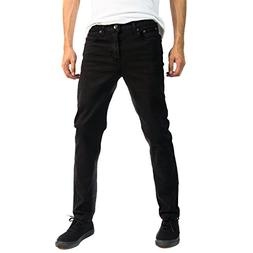 Alta Designer Fashion Mens Slim Fit Skinny Denim Jeans - Bla