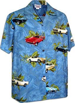 American Classic Cars Men's Shirt 3882-DENIM-XL