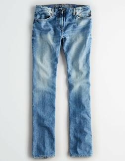 American Eagle Men's Original Straight Jeans - Light Vintage