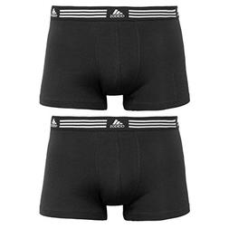 adidas Men's Athletic Stretch 2-Pack Trunk, Black/Black, Sma