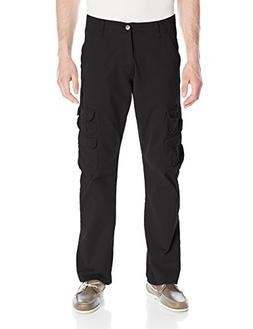 Wrangler Authentics Men's Premium Twill Cargo Pant, Black, 3