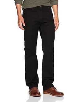 Wrangler Men's Regular Fit Comfort Flex Waist Jean, Black,